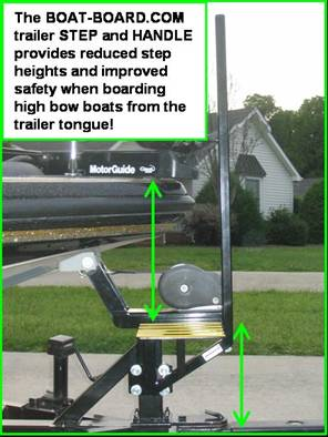 Boat-Board com Boat Trailer Step and Handle - Safe and Easy Boat